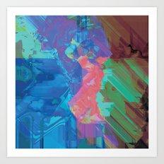Glitchy 3 Art Print