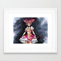 madoka magica Framed Art Prints featuring Madoka Magica by Refrigerator-Art