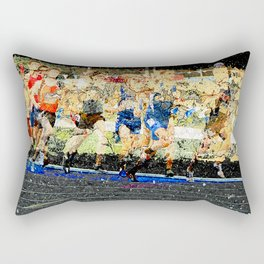 Track and field runners Rectangular Pillow