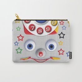Classic Retro vintage Smiley Toys Dial Phone Carry-All Pouch