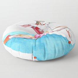 Harpers Leap, male ballet anatomy, NYC Artist Floor Pillow