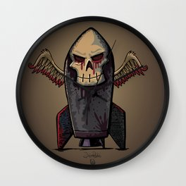 Skull Bomb Wall Clock