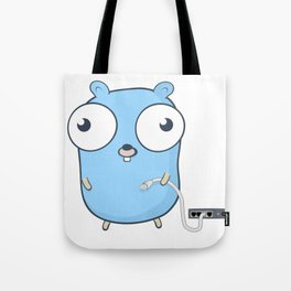 Golang - gopher wizard Tote Bag