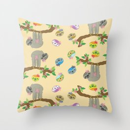 Silly Sloth Throw Pillow