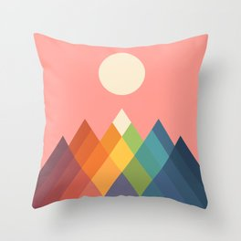 Rainbow Peak Throw Pillow