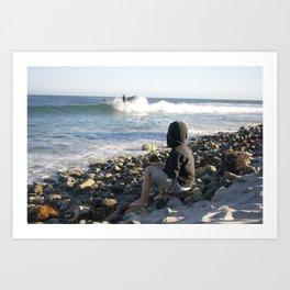 Boy On Beach Art Print