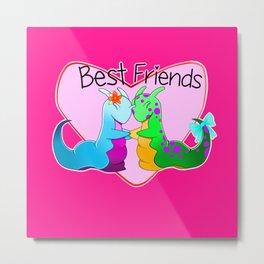 Best Friend Slugs Metal Print