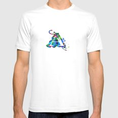 A art White Mens Fitted Tee MEDIUM