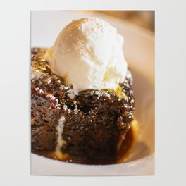 Sticky toffee pudding and ice-cream Poster