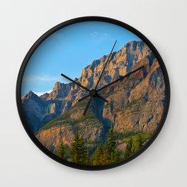 Mt. Kerkeslin in Jasper National Park Wall Clock