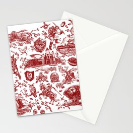 "Zelda ""Hero of Time"" Toile Pattern - Goron's Ruby Stationery Cards"