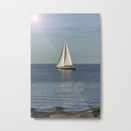 Smooth Sailing Metal Print