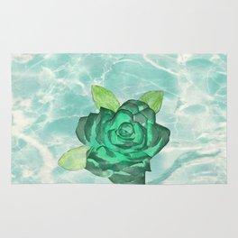 Green Rose Rug