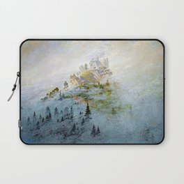 Caspar David Friedrich Morning Mist in the Mountains Laptop Sleeve