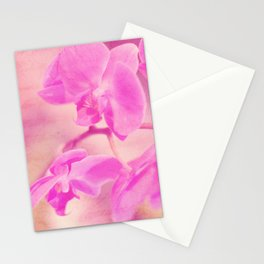 Scripted Orchid Stationery Cards
