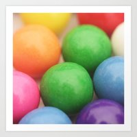 gumball Art Prints featuring Gumball Pit by Beth - Paper Angels Photography