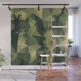 Low-poly camoflauge pattern Wall Mural