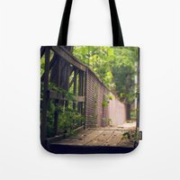 indiana Tote Bags featuring Indiana Summer by Amy J Smith Photography