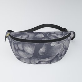 Navy on Navy Peony Watercolor Fanny Pack