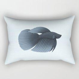 betta splendens black veiltail male Rectangular Pillow
