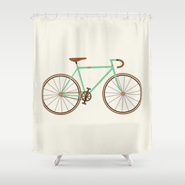Green Fixie Shower Curtain