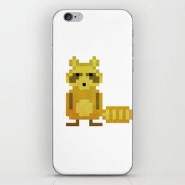 Pixel Racoon iPhone Skin