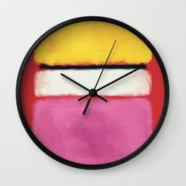 Rothko Inspired #24 Wall Clock