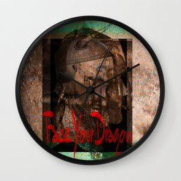 Face Your Dragon Wall Clock