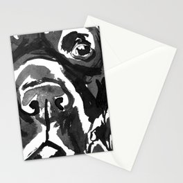 Black Lab - front view Stationery Cards