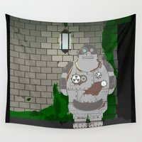 robot Wall Tapestries featuring Robot by AngoldArts
