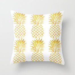 PINEAPPLE - TAKE-TIME-TO-DO-WHAT-MAKES-YOUR-SOUL-HAPPY Throw Pillow
