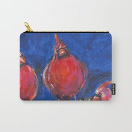 Cardinals and Hibiscus Carry-All Pouch