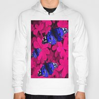butterfly Hoodies featuring  Butterfly  by Saundra Myles
