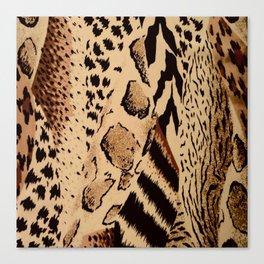 wildlife brown black tan cheetah leopard safari animal print Canvas Print