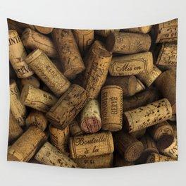 Vintage Wine Bottle Corks Wall Tapestry