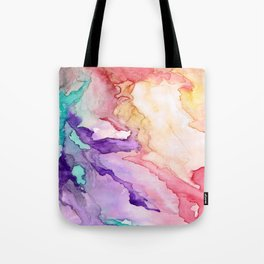 Color My World Watercolor Abstract Painting Tote Bag