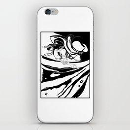 Misshaku Kongō: Buddhist Temple Guardian (Black & White) iPhone Skin