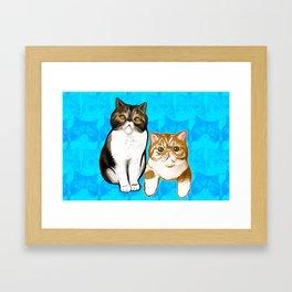 Puffy and Caesar  Framed Art Print