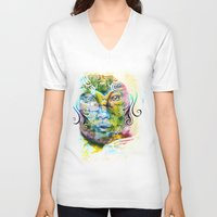 fairy tale V-neck T-shirts featuring Fairy Tale by Irmak Akcadogan
