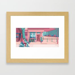 See You at the Flower Shop Framed Art Print