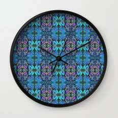 Soft Blue Butterfly Wall Clock