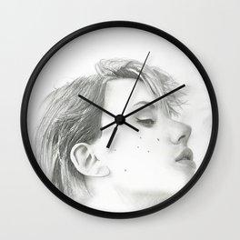 Drawing of Scarlett Johansson Wall Clock