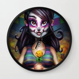 Vive la Muerte Wall Clock