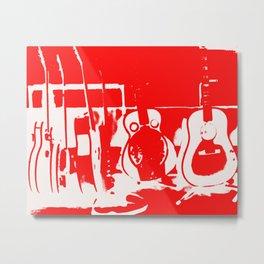 Sun Studio Guitars, Red Metal Print