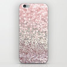 Girly Pink Snowfall iPhone & iPod Skin