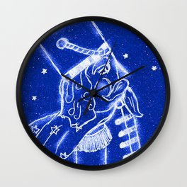 Nutcracker in Bright Blue Wall Clock