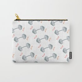Barbell Pop Gray Carry-All Pouch