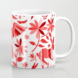Mexican Otomí Design in Red Coffee Mug