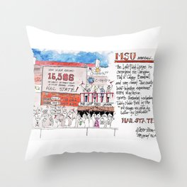 Left Field Lounge - Mississippi State Throw Pillow