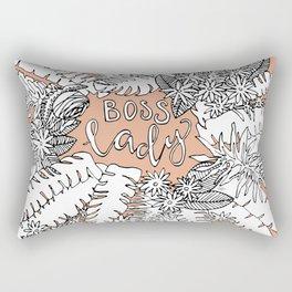 Boss Lady  - Peach Botanical Rectangular Pillow